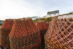 Potes de pesca del cangrejo Foto de archivo libre de regalías