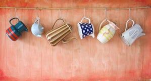 Potes del café del vintage Imagen de archivo libre de regalías