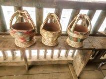 Potes del fuego en la India Imágenes de archivo libres de regalías