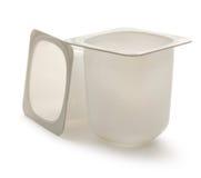 Potes del yogur foto de archivo libre de regalías