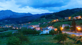 Potes at dusk. Royalty Free Stock Images