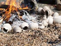 Potes originales del fuego Fotos de archivo