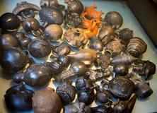 Potes peruanos en el ` Albertis de Castello d una residencia histórica en Genoa Italy Contiene actualmente el museo de las cultur Foto de archivo libre de regalías