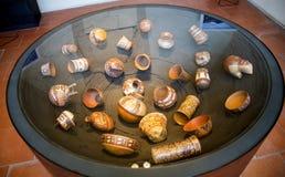 Potes peruanos en el ` Albertis de Castello d una residencia histórica en Genoa Italy Contiene actualmente el museo de las cultur Imagen de archivo