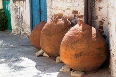 Potes viejos de Chipre Foto de archivo libre de regalías