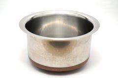 Potes y artículos de cocina del acero inoxidable Foto de archivo libre de regalías