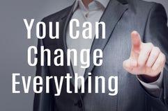 Potete cambiare tutto Fotografie Stock Libere da Diritti
