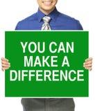 Potete fare una differenza Fotografia Stock Libera da Diritti