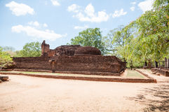 Potgul Vihara in ancient city of Polonnaruwa, Sri Lanka Stock Image