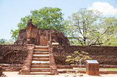 Potgul Vihara or Pothgul Viharaya in ancient city of Polonnaruwa, Sri Lanka Stock Photography