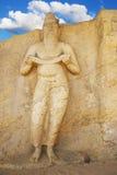 Potgul Vihara Statue, Polonnaruwa, Sri Lanka Stock Photos