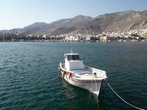 Pothia港口,卡林诺斯岛希腊 库存照片
