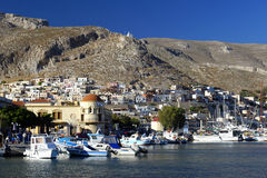 Pothia, capital of Kalymnos island Stock Images