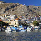 Pothia, capital of Kalymnos island Royalty Free Stock Photo