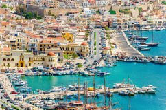 Pothia, Kalymnos, Greece Royalty Free Stock Photography