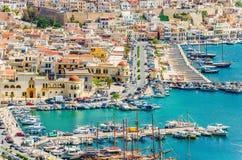 Pothia Kalymnos, Grekland Royaltyfri Fotografi