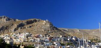 Pothia miasteczko na Kalymnos wyspie Zdjęcia Stock