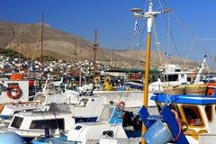 Pothia schronienie na Kalymnos wyspie Zdjęcia Royalty Free