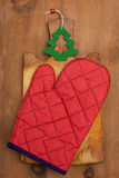 Potholder and cutting board Stock Photos