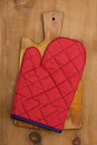 Potholder on a wooden background Royalty Free Stock Images