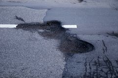 Pothole Royalty Free Stock Photos