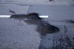 Pothole royalty-vrije stock foto's