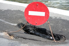 Pothole Stock Photography