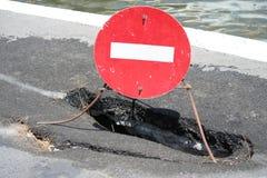 Pothole stock fotografie