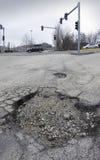 Pothole stock foto