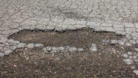 Pothole in asfalt Stock Foto