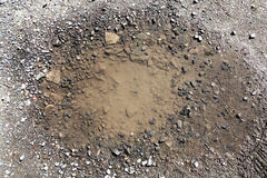 Pothole Royalty Free Stock Photography