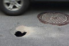 Pothole  Royalty Free Stock Images