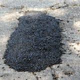 Pothole Patch Stock Image