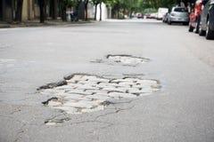 Pothole 06 Stock Photos
