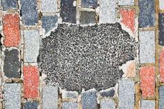 Pothole repair Royalty Free Stock Images