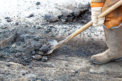 Pothole repairing works Stock Photography