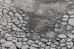 Pothole van het asfalt royalty-vrije stock foto's