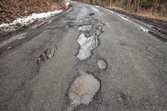 Potholes. Along Old Mine Road in the Delaware Water Gap National Recreation Area in New Jersey Stock Photography