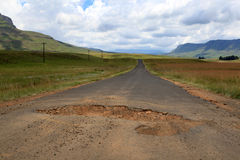 Potholes Royalty Free Stock Photography