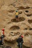 Potholes, climbers on rock Royalty Free Stock Photo