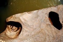 Potholes die in kei wordt geërodeerdr Royalty-vrije Stock Foto's