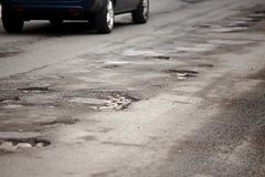 Potholes Royalty Free Stock Image