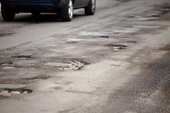 Potholes Royalty Free Stock Image