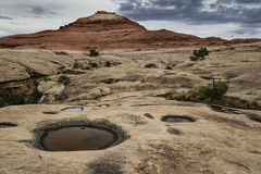 Pothols i Canyonlands Backcountry Arkivbilder