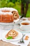 Potica, petit pain slovène de noix Photos libres de droits