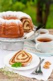 Potica, petit pain slovène de noix Photographie stock libre de droits