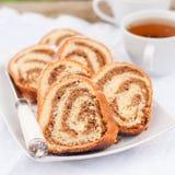Potica, petit pain slovène de noix Photo libre de droits
