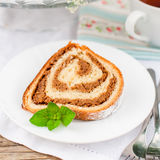 Potica, petit pain slovène de noix Image stock