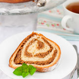 Potica, petit pain slovène de noix Photo stock
