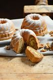 Potica, Roll with walnuts. On the wooden table Stock Photo